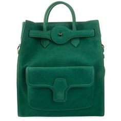 #Emerald #green Balenciaga Leather tote with vanity mirror  ($3323 CAD, www.farfetch.com)
