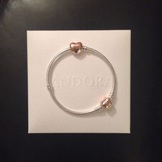 Pandora Limited Edition Rose Gold Bracelet and Puffy Heart Rose Gold Charm.  i got mine!