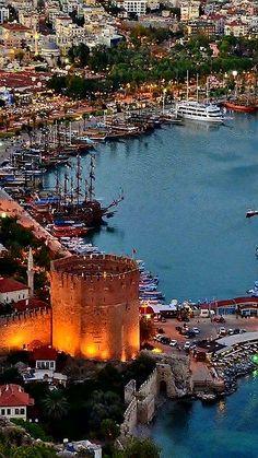 Alanya TURKEY Monuments, Alanya Turkey, Turkey Travel, Turkey Holidays, Beautiful Places To Travel, Istanbul Turkey, Places Around The World, Solo Travel, Wonders Of The World