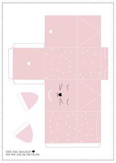 Origami Gift Box, Diy Gift Box, Diy Box, Eid Crafts, Easter Crafts, Diy And Crafts, Diy Eid Cards, Box Template Printable, World Crafts