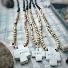 Bicolors wood necklace