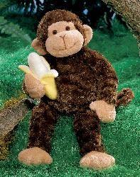 """Mambo Sr. Stuffed Monkey Plush By Gund  Stuffed Monkey measuring 14"""" / 35.5 CM. Made out of soft fabric and cushy stuffing."""