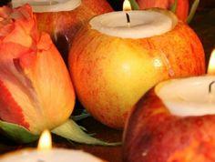 originale-idee-deco-mariage-pas-cher-avec-bougeoir-en-pommes-rouge