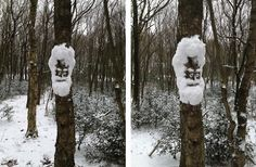Snow Tree | Community Post: 40 Creative Snowmen and Other Snow Sculptures