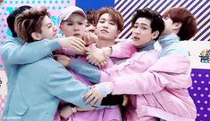 BamBam, Jackson, and Youngjae's faces