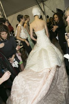 Backstage at Christian Dior couture spring/summer 2013
