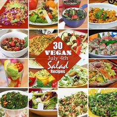 Entertaining this weekend? Here are thirty (yes, 30!) sunny, satisfying, and spectacular salads to make the perfect #vegan main dish (or side) for your July 4th menu. For a full buffet spread, simply mix and match 4 or 5 of these delightful dishes, or choose a few to offer on the side of your main dishes. Get the recipes: http://ats.jazzyvegetarian.com/blog/30_salads_for_your_july_4th_celebration