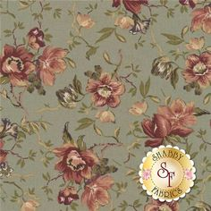 "Country French 8302-G by Maywood Studio Fabrics: Country French is a floral fabric collection by Maywood Studio Fabrics. This fabric features all over floral bouquets tossed on a green background. Width: 43""/44""Material: 100% CottonSwatch Size: 6"" x 6"""