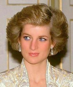 November 7, 1988: Prince Charles and Princess Diana at a Banquet at the Palais De L'Elysee in Paris, hosted by President Francois Mitterrand and his wife Danielle