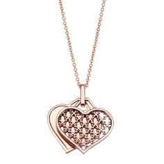 BIRKS Muse Collection, Engravable Heart Pendant, in 18kt Rose Gold