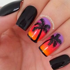 32 Summer Nails That All Feature Palm Trees! - Hashtag Nail Art