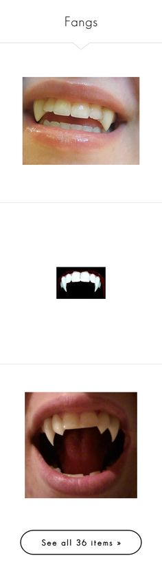 """Fangs"" by abbey-jp ❤ liked on Polyvore featuring lips, vampire, makeup, accessories, costumes, backgrounds, pictures, filler, photos and pics"