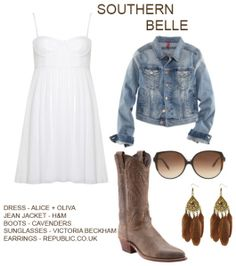 i have a white dress, boots and denim jacket. i could do this...