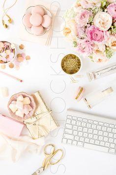 Blush Pink Desk Collection #09