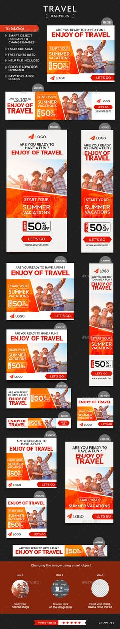Travel Banners Template #design Download: http://graphicriver.net/item/travel-banners/12062208?ref=ksioks