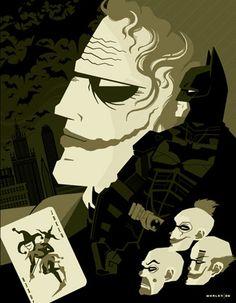 The Spectacular Superhero Poster Art of Tom Whalen - Batman Tom Whalen, I Am Batman, Batman Art, Joker Batman, Bruce Timm, Heath Ledger, Justice League, Superhero Poster, Batman Poster