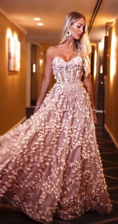 Sexy Jacquard Wrapped Slim Waist Back Evening Gown – Naychic Ball Dresses, Ball Gowns, Prom Dresses, Formal Dresses, Wedding Dresses, Pink Dress, Dress Up, Look Chic, Beautiful Gowns