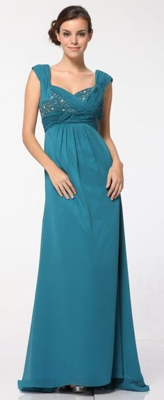 Jade Mother of Bride Dress Formal Criss Cross Pleated Bodice Gown (3 Colors Available) $229.99 Wide Strap Formal Dresses