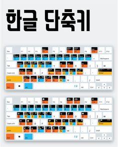 클릭해서 고화질 이미지로 다운로드 받으세요. Computer Shortcut Keys, Office Programs, Learn Korean, Photoshop Tips, Drawing Tips, Life Skills, Helpful Hints, Coding, Study