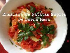 De Buena Mesa: Ensalada de Patatas Exprés http://denuestracasa.blogspot.com.es/2015/01/ensalada-de-patatas-expres.html