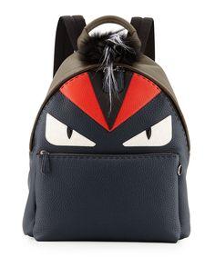 cb41d7bf1c2b Fendi Monster Backpack with Fur Crest
