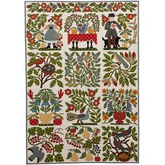 Jo Morton Contest: I chose some of my favorite blocks from the book, A Bountiful Life by Karen Mowery. Her patterns are based on the Bird of Paradise quilt in the American Folk Art Museum.