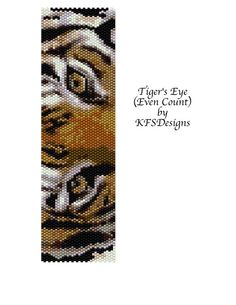 Peyote Stitch Bracelet Pattern - Tiger's Eye (Buy 2 Patterns - get 3rd. FREE)
