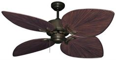 Tropical Ceiling Fans, Ceiling Fan Motor, Outdoor Ceiling Fans, Leaf Shapes, Tropical Leaves, Leaf Design, Oil Rubbed Bronze, Blade, Lights