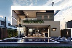 Trendy Exterior House Design Dream Homes Layout 24 Ideas Architecture Design, Modern Architecture House, Modern Villa Design, Luxury Homes Dream Houses, Dream Homes, House Front Design, Dream House Exterior, Dream Home Design, Modern House Plans