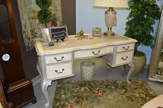 Beautiful Queen Anne Style writing desk revamped with Chalk Paint®!