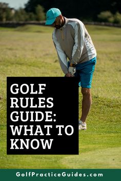 Learn the rules of golf for beginners in today's quick guide by GolfPracticeGuides.com #golf #golfrules #golftip #golfing