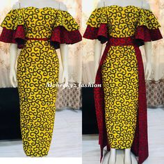 Auspicious Ankara Gowns to Copy - Ani Exclusive Latest African Fashion Dresses, African Dresses For Women, African Print Dresses, African Print Fashion, Africa Fashion, African Attire, African Wear, Ankara Dress Styles, Ankara Gowns