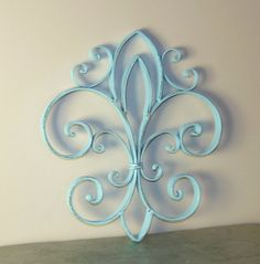 Hey, I found this really awesome Etsy listing at http://www.etsy.com/listing/160345414/fleur-de-lis-wrought-iron-wall-decor