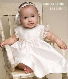 A strikingly beautiful dress for baby's baptism