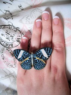 Blue Butterfly Ring, £7 from thebeatboutique on etsy - beautiful!