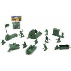 Sada vojáci s doplňky plast v sáčku 15x20cm