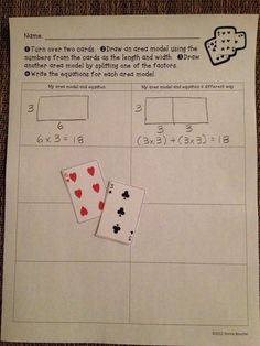 Math Coach's Corner: Demystifying the Distributive Property. Here's a little game that students can play to practice representing arrays and connecting them to equations.