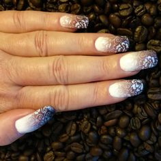 Nailways: CAFÉ LATTE MACCHIOTO GRADIENT STAMPING NAILART
