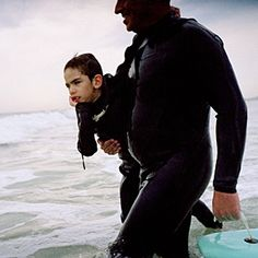 Stricken with a rare genetic syndrome, the authors son was a prisoner in his own body. Then his dad took him surfing. #longreads