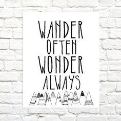 Wander Often Wonder Always #travelquote