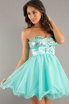 2014 New Arrival A Line Strapless With Rhinestones Short/Mini Homecoming Dresses Discount Price
