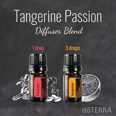 Tangerine Passion Diffuser Blend with dōTERRA Passion® and Tangerine essential oils.