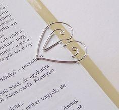 Stork love - wire bookmark. via Etsy.