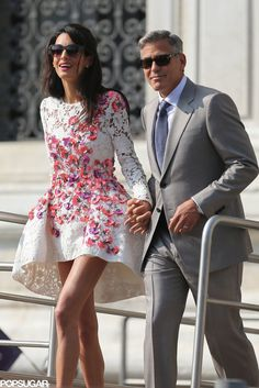 """George Clooney and Amal Alamuddin Make a Perfect Pair of Newlyweds: Amal Alamuddin and George Clooney headed to say """"I do"""" for the second time during their civil ceremony in Venice, Italy."""