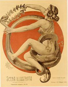 Scena Illustrata Cover by Anichini, 1900-20