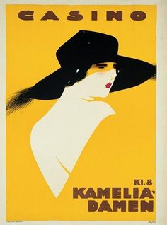 """Kamelia Damen"", 1922 - Movie poster by Sven Brasch (Danish, Graphic Design Illustration, Graphic Art, Illustration Art, Art Deco Posters, Cool Posters, Movie Posters, Photocollage, Poster Vintage, Illustrations And Posters"