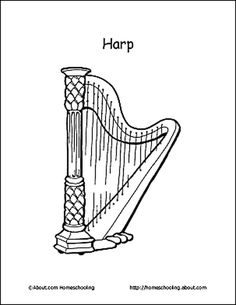 harp coloring pages - photo#15