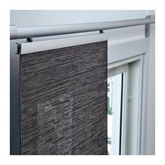 FÖNSTERVIVA Panel Curtain, Dark Gray