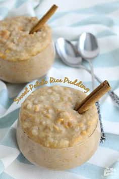 Sweet Potato Rice Pudding - ever tried sweet potatoes in rice pudding?! This recipe will make you never want regular rice pudding again! Plus it's healthy.>>>>> ! A Permanent Health Kick ! - Healthy Food Recipes and Fitness Community
