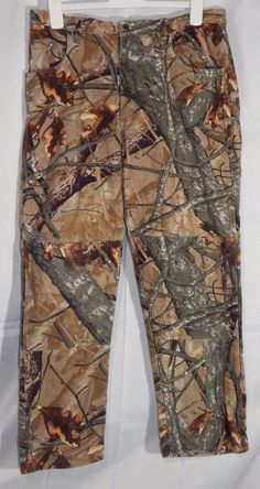 Wrangler Fusion 3D Camo 5 Pocket Hunting Double Knee Pants 36x32 measures 37x30 #Wrangler #HuntingCamoJeans